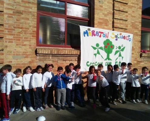 Día de la Paz: Maratón Solidario en El CEIP Ortiz de Zúñig
