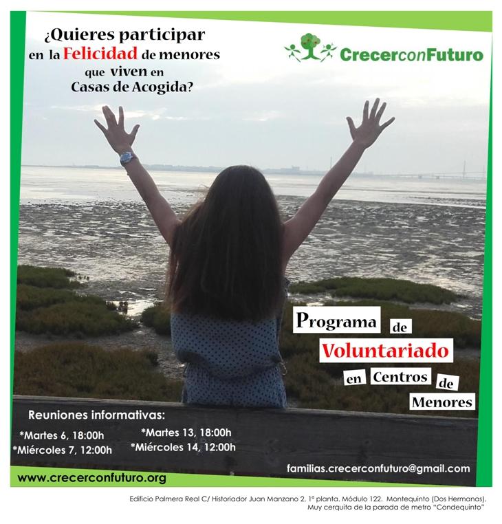 Cartel voluntariado Casas Acogida Septiembre 2016